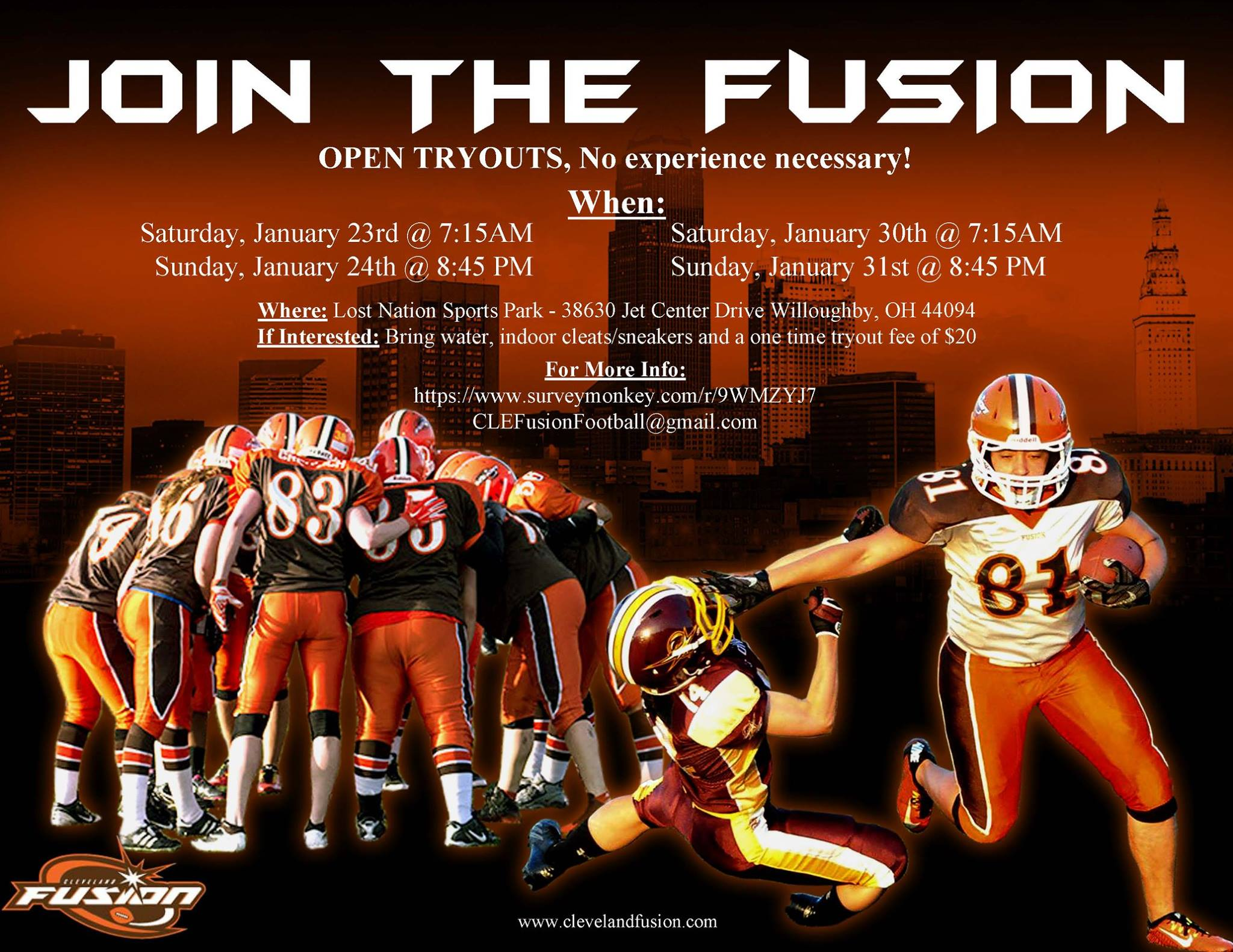 Fusion January Tryouts 2016